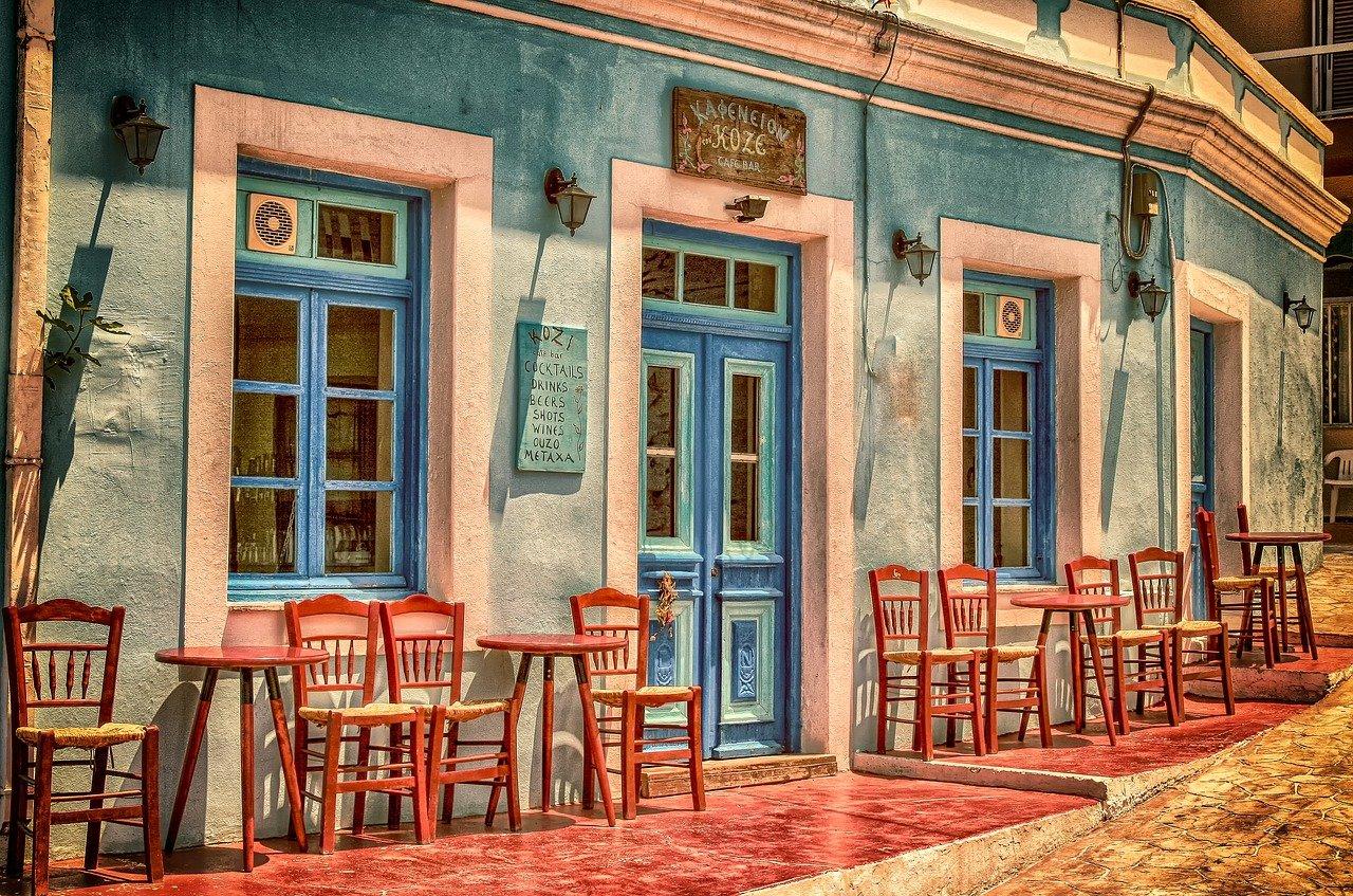 przestrzeń przed restauracją